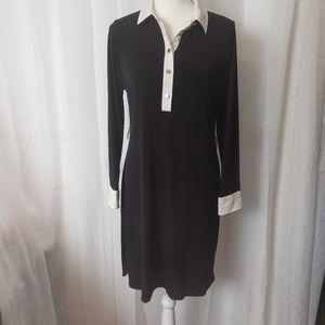 Ivanka Trump Black Dress Long Sleeve Medium